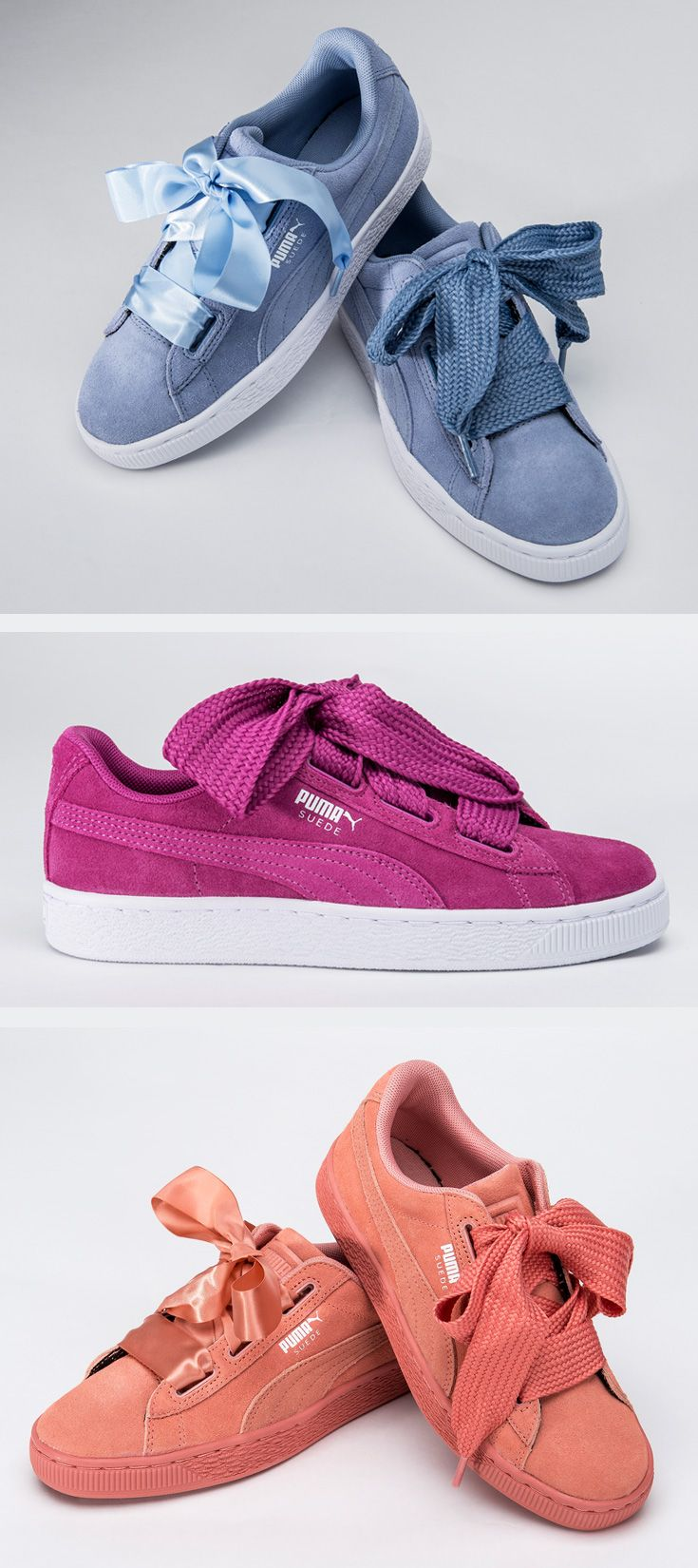 c37b344d8bb Everything is better with bows — cop the latest kids  PUMA Suede Heart  collection in bright summer-ready colors.