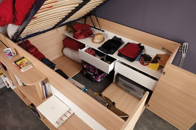 Parisot Space Up Bed A Bed That Doubles As A Closet Used