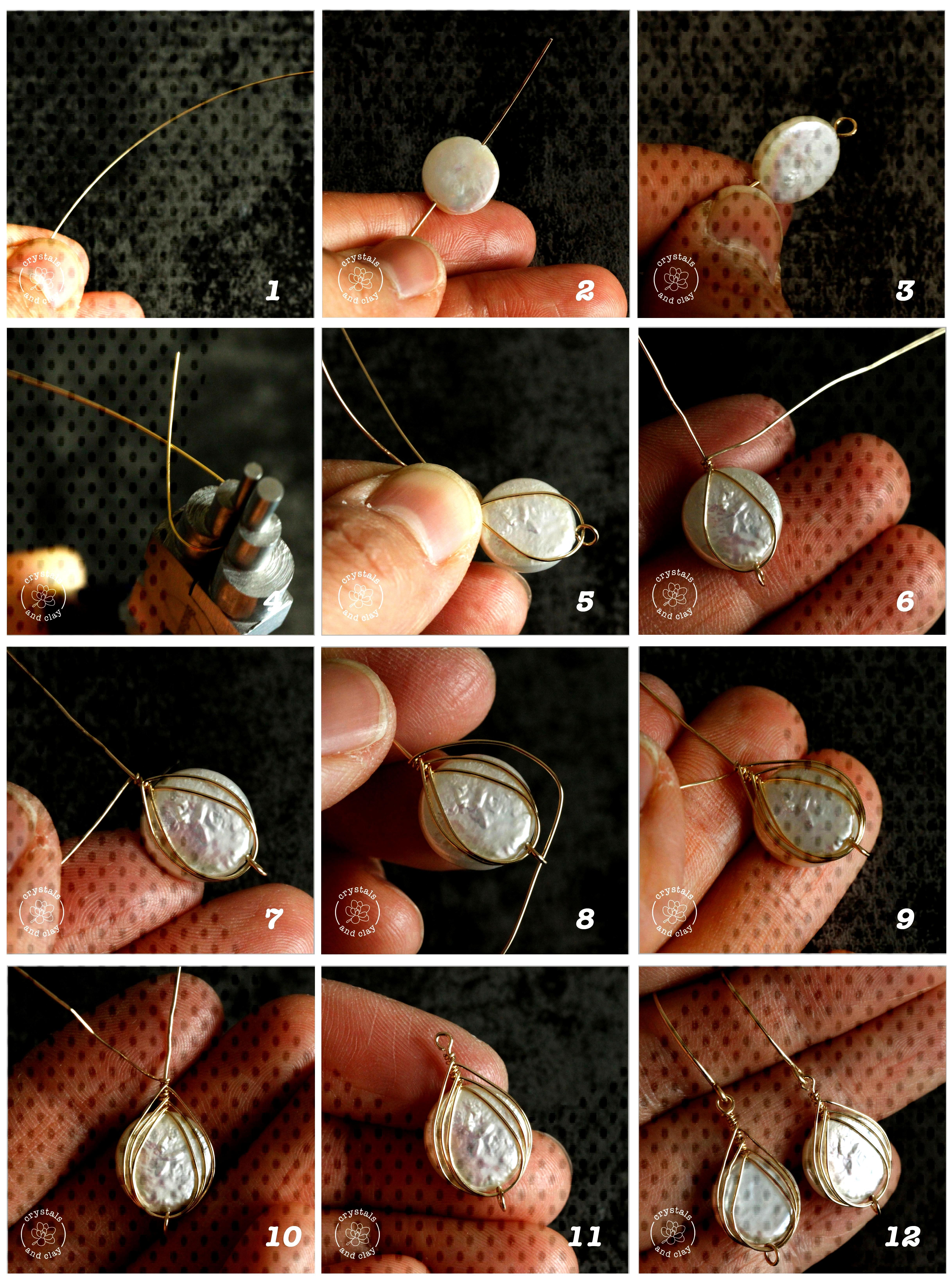 how to make herringbone weave wire wrapped earrings This jewelry making tutorial shows you how to m