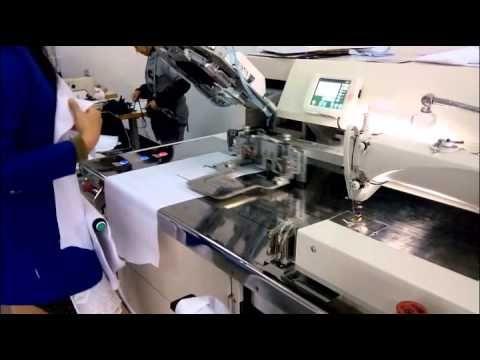 Jack JK40 Lockstitch Automatic Pocketwelting Machine YouTube Unique Automatic Sewing Machine For Shirts