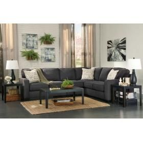 Best Aleyna Sectional Charcoal Sectional Charcoal Sofa 400 x 300