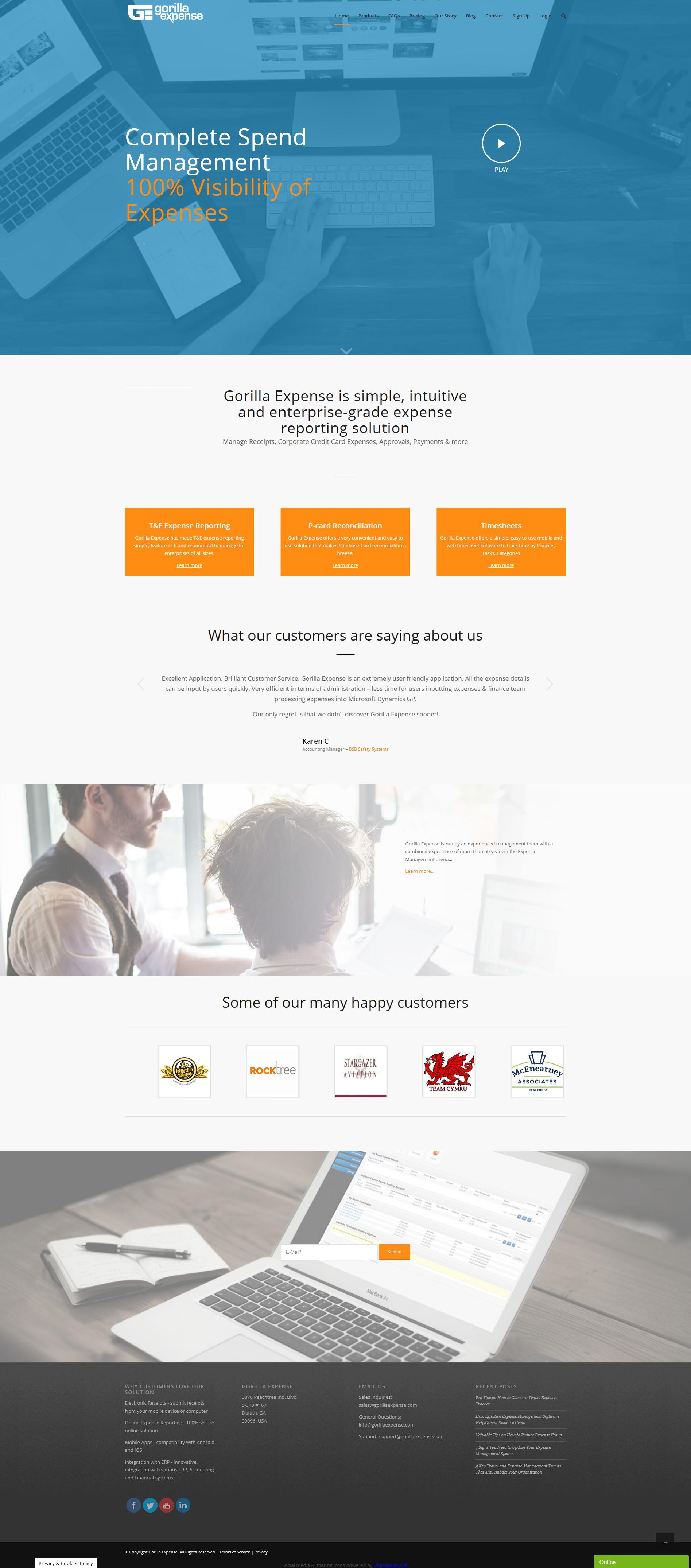 Service for Convenient Cost Control Web development