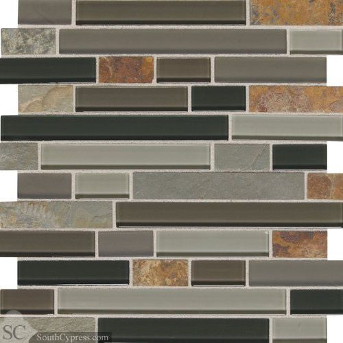 Slate Radiance 1 X Random Flint Random Mosaic Daltile Daltile Stone Decor Stone Mosaic Tile