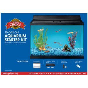 Grreat choice 20 gallon aquarium starter kit petsmart for 20 gallon fish tank petsmart