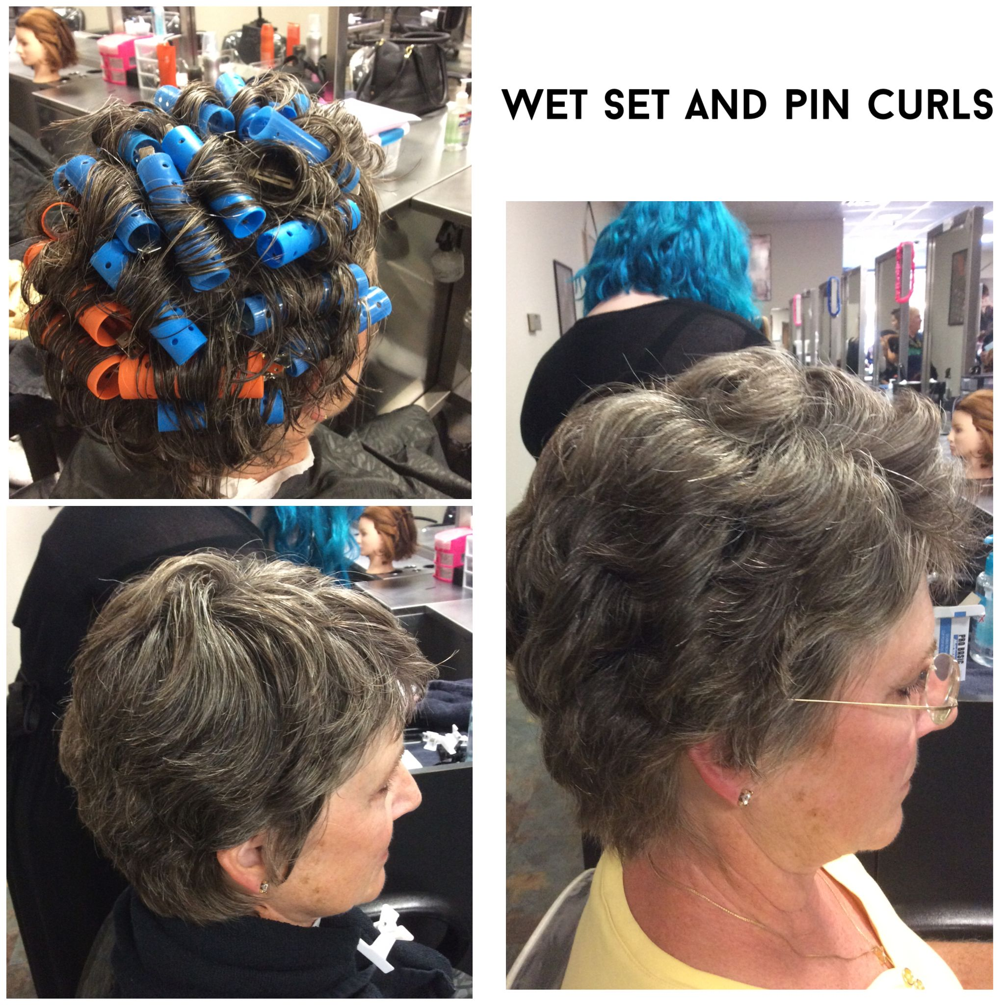 Wet Set with pin curls #thermalstyle #wetstyle #pincurls #wetset