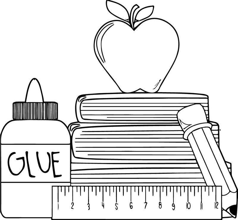 1st Grade School Glue Apple Coloring Page Apple Coloring Pages Apple Coloring School Glue