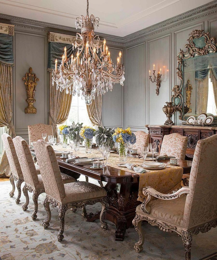 Victorian Style Dining Room: Exquisite Victorian Dining Room Offers Timeless Class And
