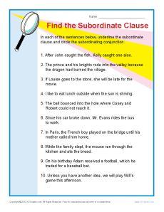 Worksheets Subordinate Clause Worksheet subordinate clause worksheet sharebrowse collection of sharebrowse