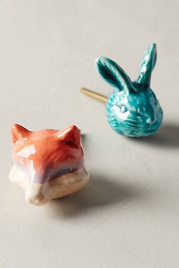 Forest Menagerie Knobs. I would have these for a child\'s wooden ...