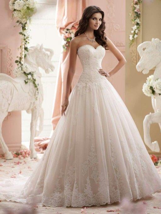 Vestido de novia by David Tutera. ❤ | wedding gown | Pinterest ...