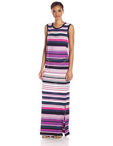 Juicy Couture Black Label Womens Knit Jersey St Tropez Stripe Maxi Dress  Strip Tropez Stripe XLarge     You can find out more details at the link of  the ... 08a27119b