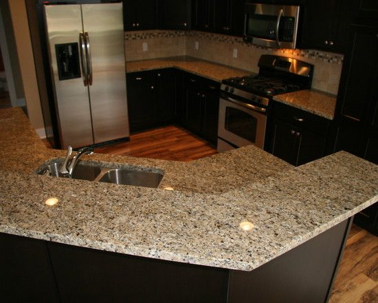 New Venetian Gold Granite Counter With