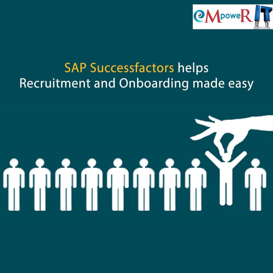 The cloud-based HR solutions, SAP SuccessFactors help in