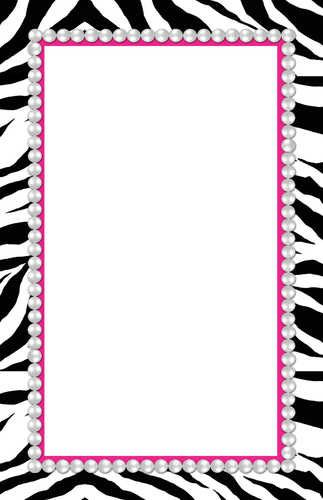 pink and zebra templates free | home > a sassy imprintable zebra, Birthday invitations