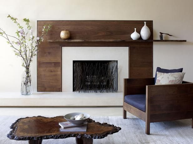 This fireplace screen captures a natural  modern aesthetic and mimics the look of branches