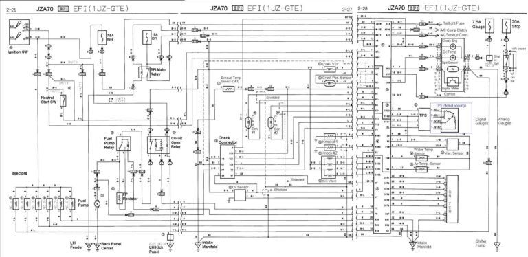 Various Jza70 And 1jz Gte Wiring Diagrams Perfecttuning For 1jz Engine Diagram