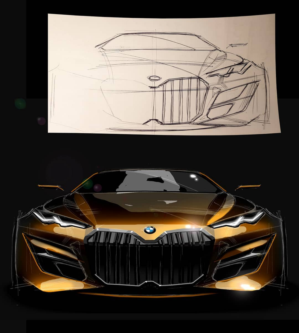 "CAR DESIGN 26 on Instagram: ""#bmw #design #sketch #concept #conceptcars #painting #art #artwork #photografy #luxury #emobility #royalfield #transportationdesign #tuning…"""