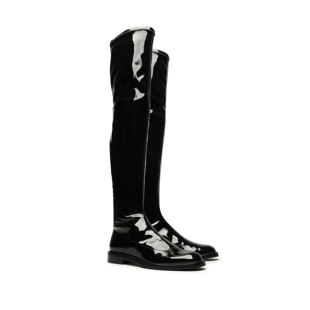 Details about  /Women Over Knee High Riding Stretch Boots Wedge Heels Pointy Toe Party Shoes New