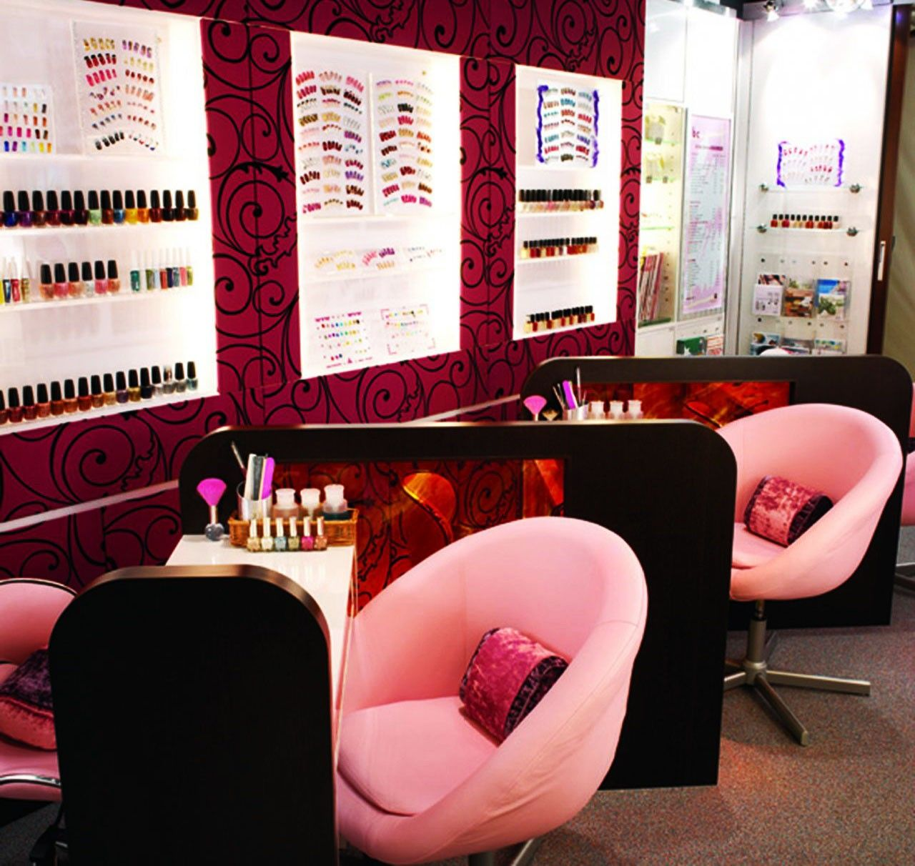 Nail Salon Decorating Ideas Beautiful Elegant Nails Salon Design