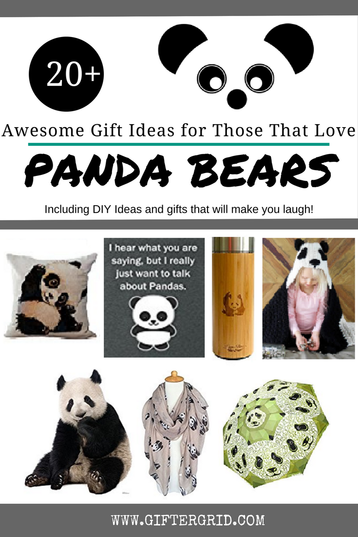 Gift Ideas for those who love panda bears! A great way to get your panda fix too! Gift Ideas include DIY ideas, great gift ideas, gifts of experience and charitable causes!