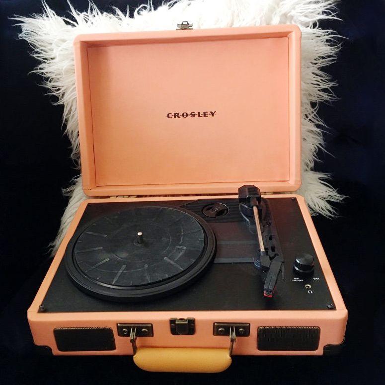 Crosley Peach Record Player Turntable