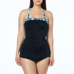 495e88a5b64e0 Roxanne Bandeau Sarong One Piece Swimsuit – Sand Geo | Roxanne Swim ...