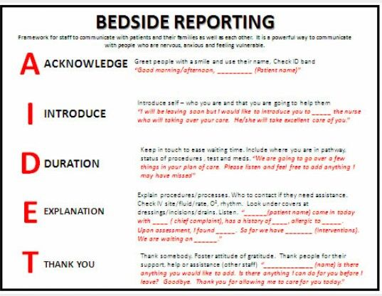 Bedside Reporting  Nurses    Nurse Life Nursing Notes