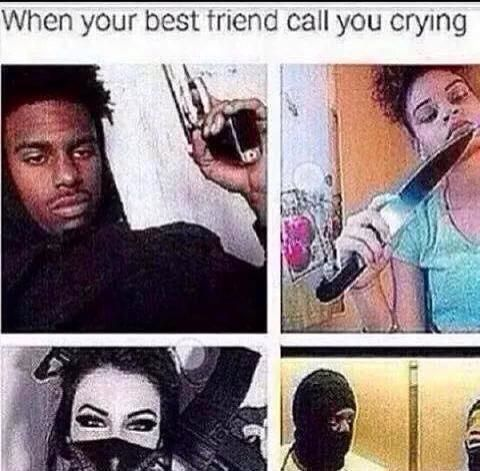 when your best friend call you crying