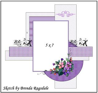 GrandDiva's Creative Corner .... layout sketch by Brenda Ragsdale