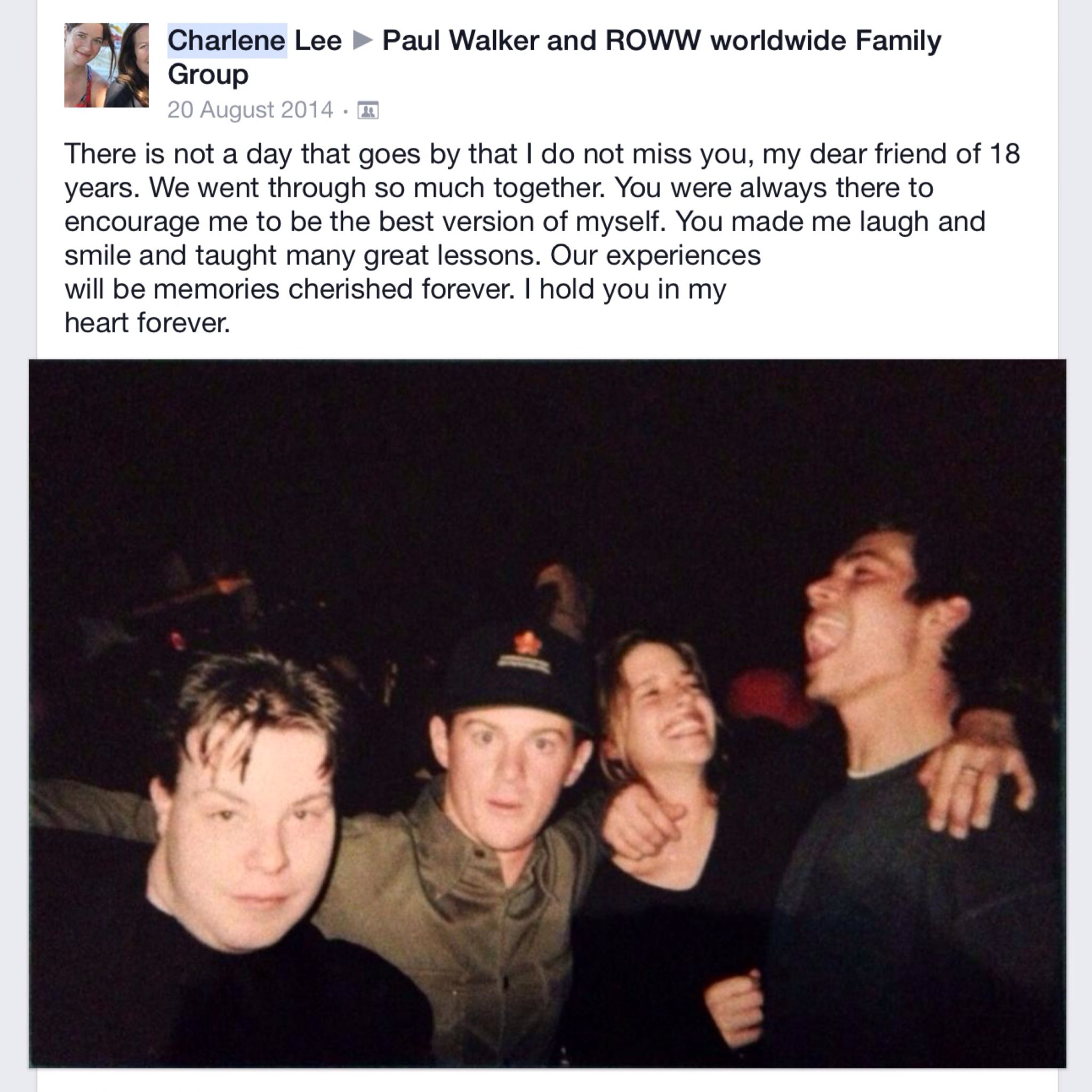 Fb post by a friend of paul s