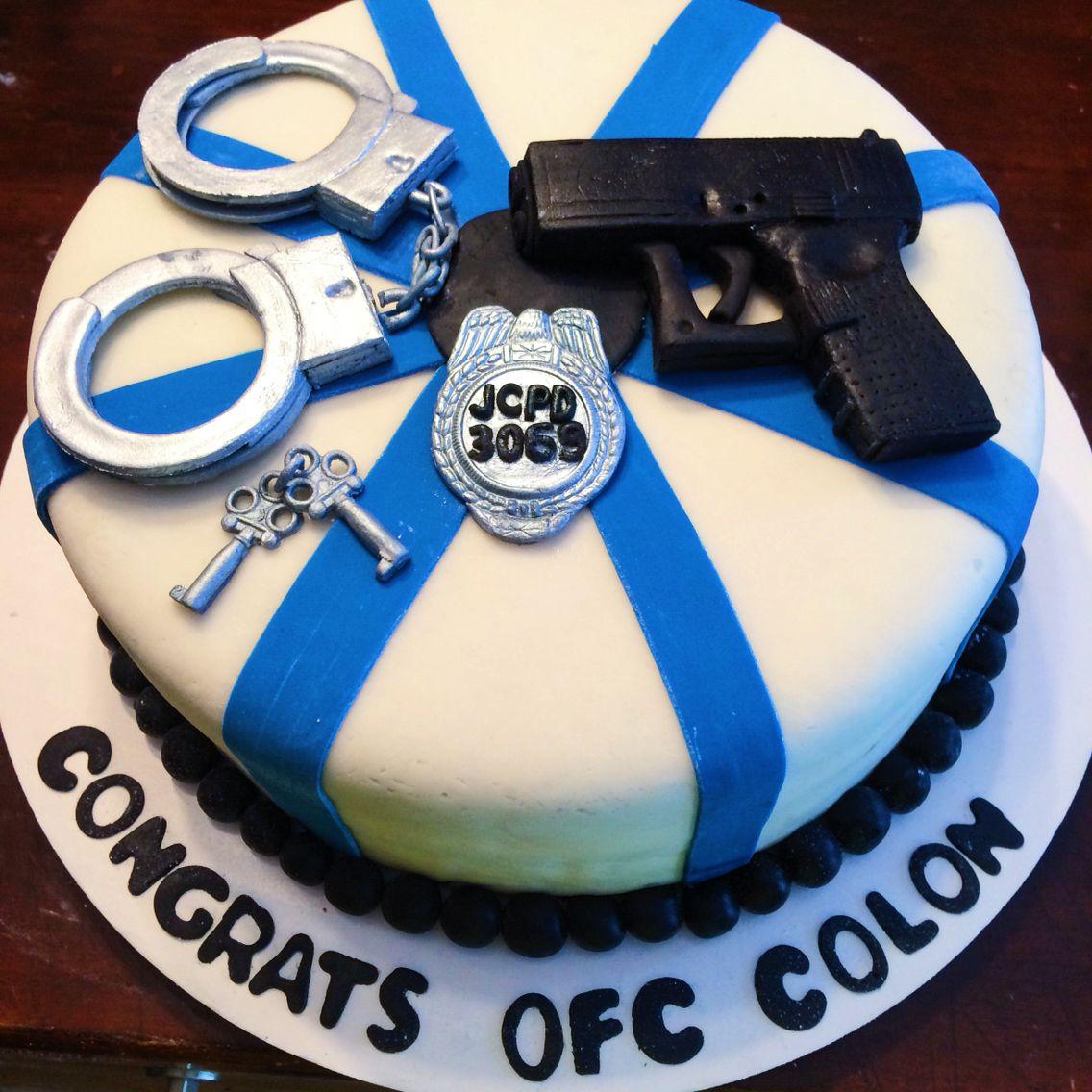 Police Academy Graduate Fondant Cake