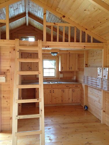 14x28 Cabin Kit Complete Floors Walls Ceiling Roof Precut Build Anywhere Ebay Tiny House Cabin Small Log Cabin Tiny House Design
