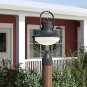 Laurel Foundry Modern Farmhouse Epone 1 Light Led Lantern Head Wayfair Lantern Head Outdoor Post Lights Post Lights