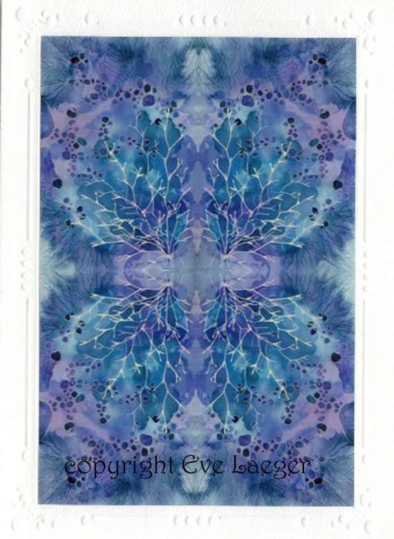 Butterfly Blue Card by IsabellaFlora on Etsy, $4.00