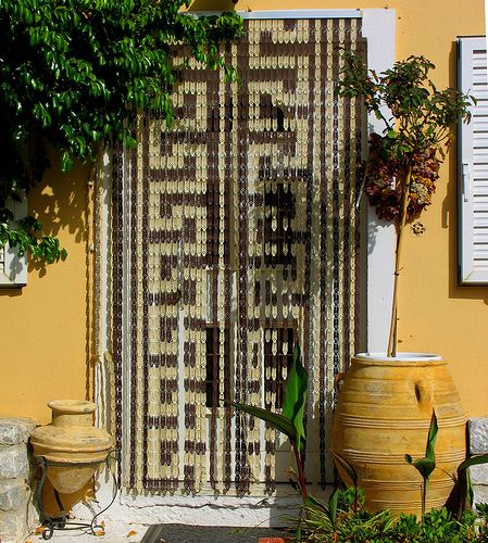 Arabic Beaded Curtain Over Entrance Beaded Curtains Bamboo Door