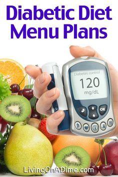 Diabetic Diet Menus And Meal Ideas #diabetesmenu