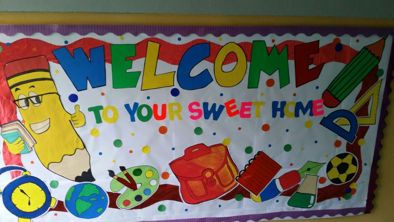 September Welcome Back To School Bullitin Board School Board Decoration Display Boards For School Fall Classroom Decorations