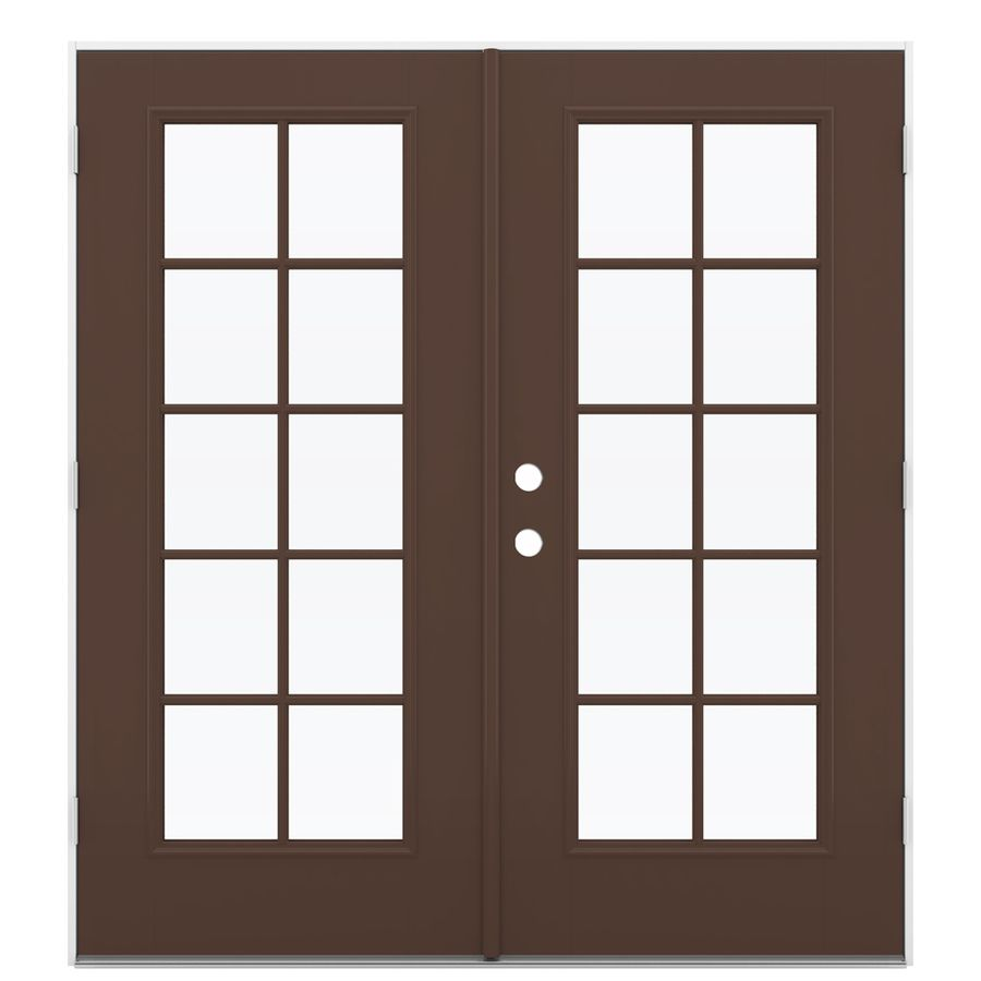Reliabilt 71 5 In 10 Lite Glass Chococate Fiberglass French Outswing Patio Door French Doors Patio Patio Doors Fiberglass Patio Doors