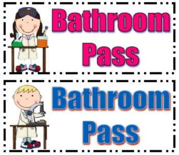 graphic relating to Bathroom Pass Printable named Science Cl Rest room Pes Instruction: Science Toilet