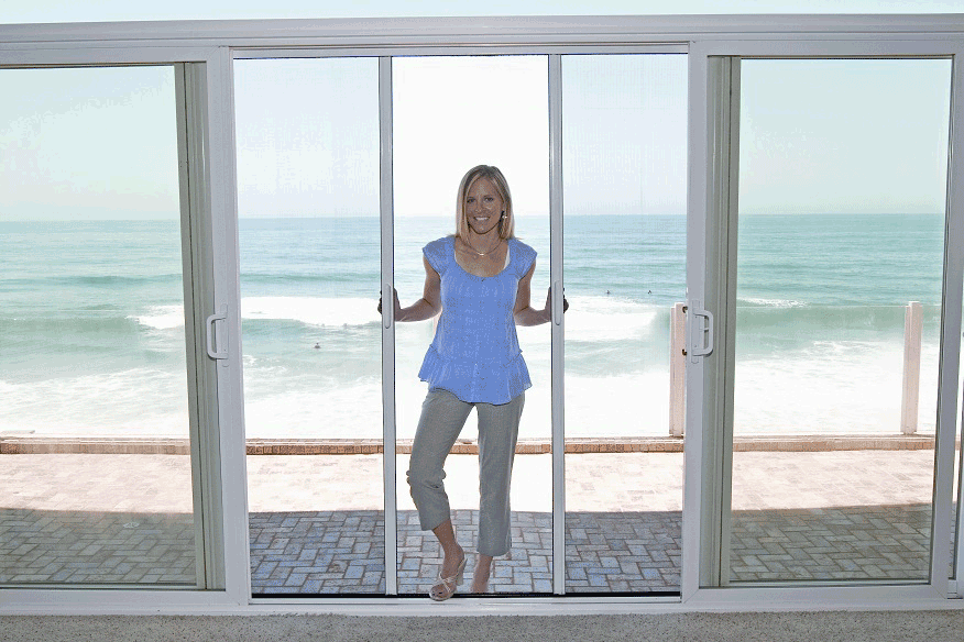 Screened Sliding Glass Doors Casper Retractable Screen Doors