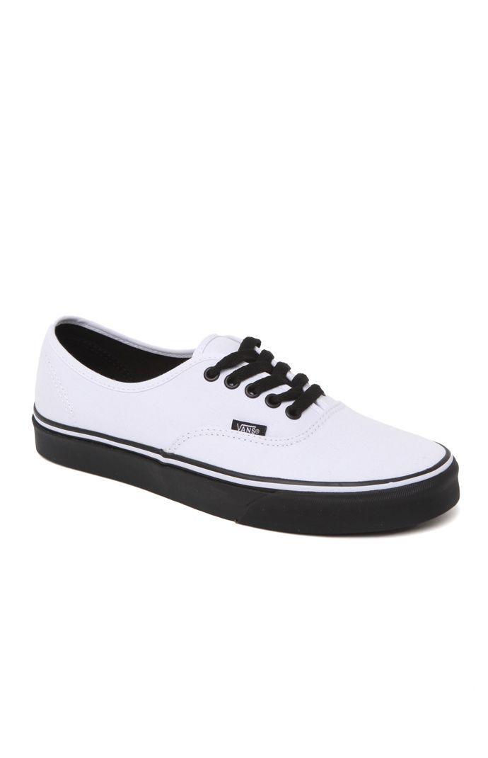 Vans Authentic Black Sole Shoes at