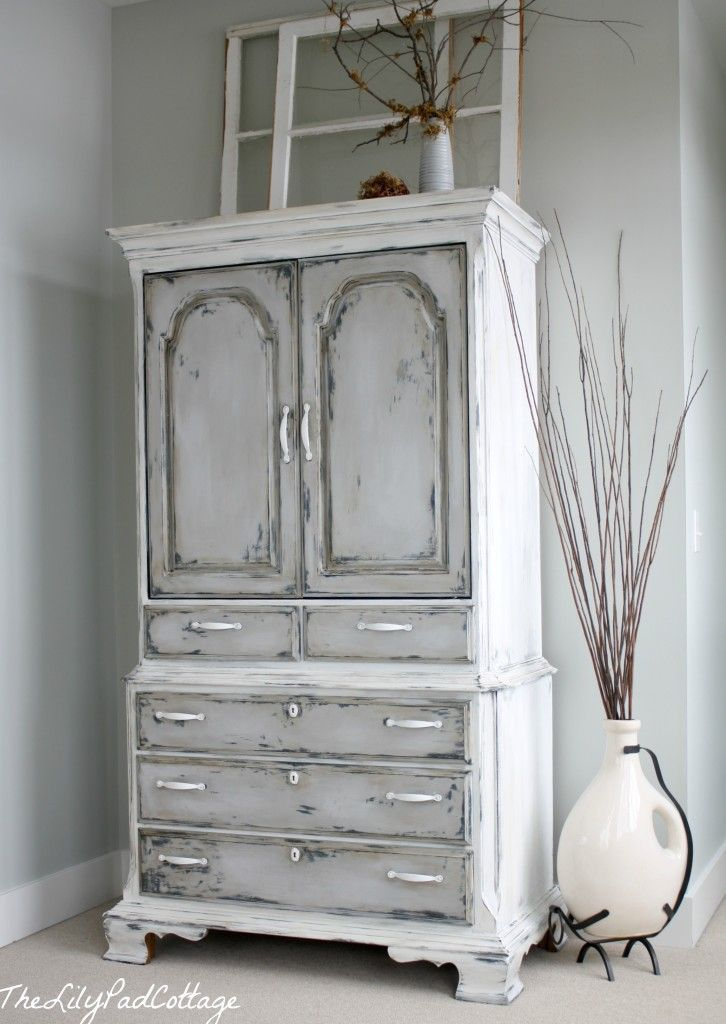 Chalk Painted Furniture Armoire Redo Annie Sloan Paint 2