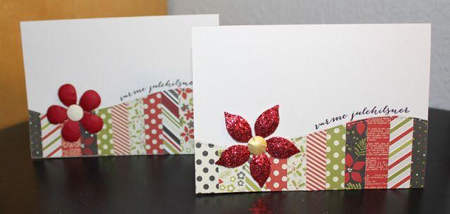 Card christmas poinsettia  Susannes blog: Julekort - Stjernesus design