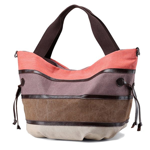 328398fe76d2 Women Canvas Multifunction Large Capacity Canvas Patchwork Crossbody Bag  Handbag