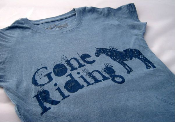 """Gone Riding""  T-Shirt - Original Cowgirl Clothing Company"