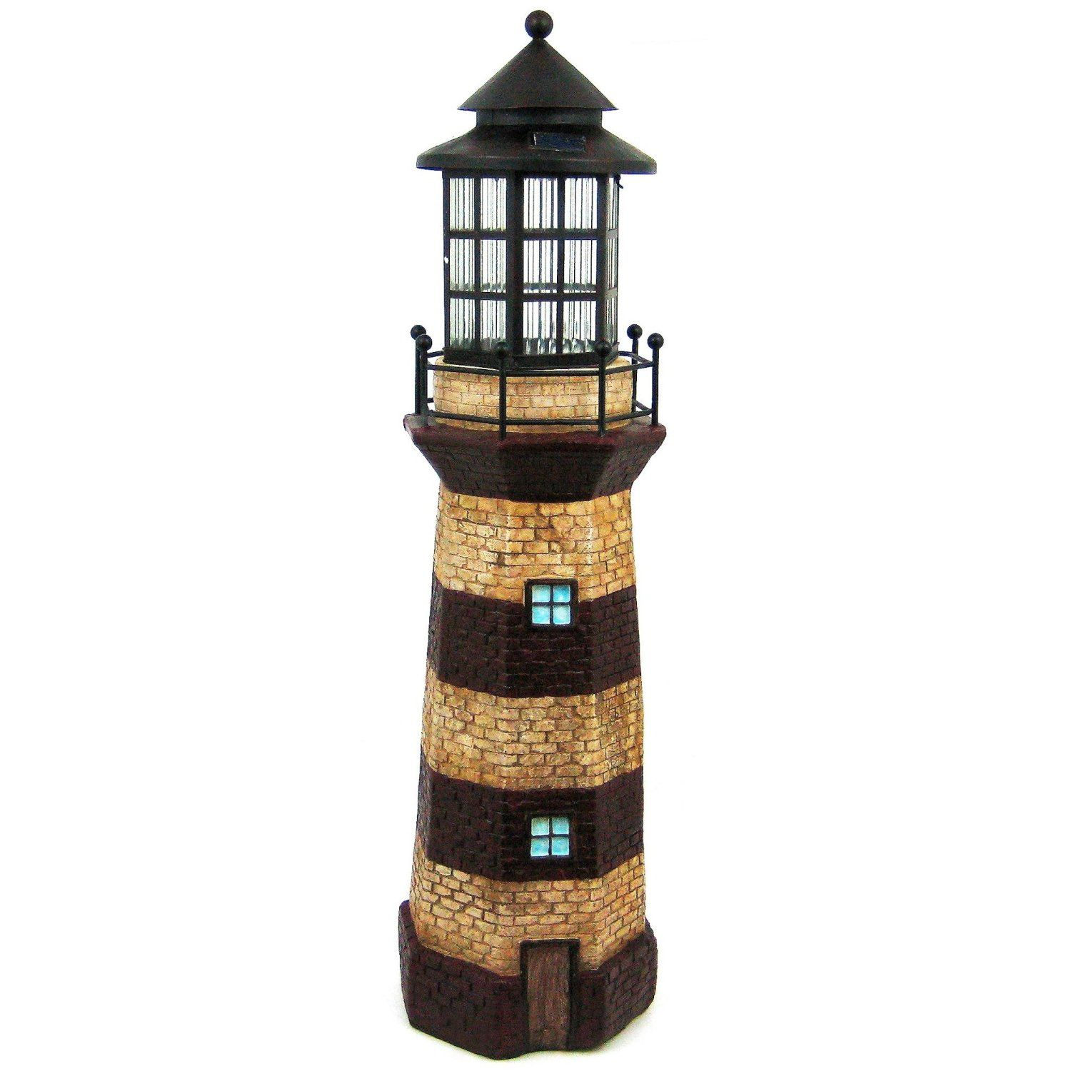 36 Inch Tall Lighthouse Outdoor Solar Light 3
