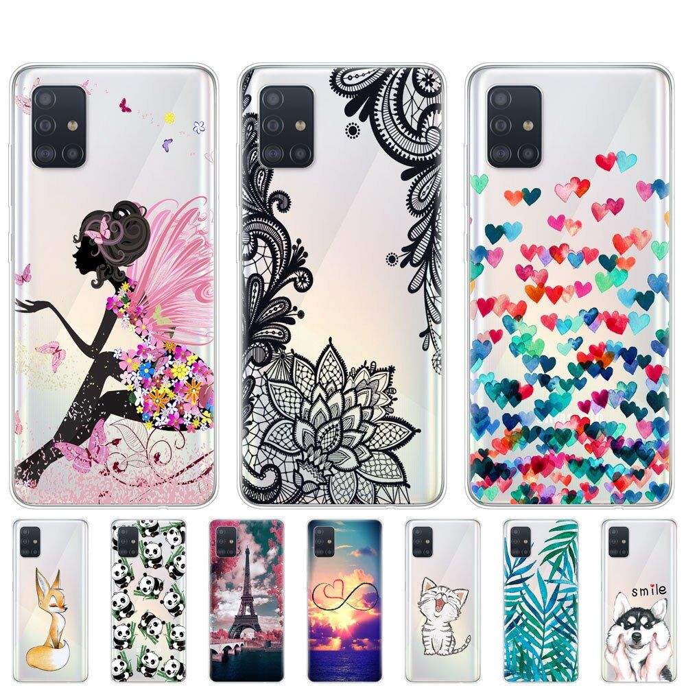 Case For Samsung Galaxy A51 Case Silicon Transparent Back Cover For Samsung A51 A515 6 5inch Bumper Coque Soft Coque Cute Cat Cats Phone Case Phone Cases Case