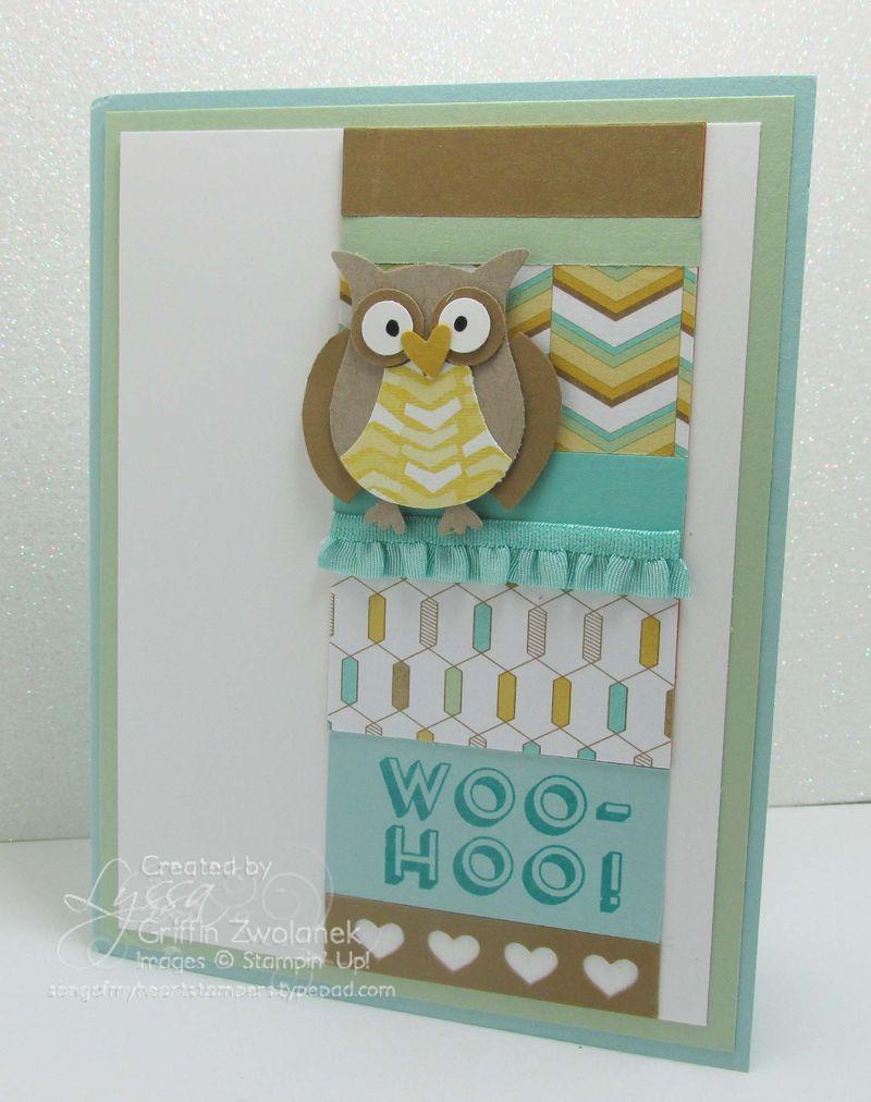 Congrats Baby Boy Owl Card Woo Hoo Stampin Up