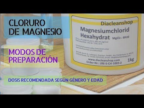 Dosis diaria recomendada de magnesio