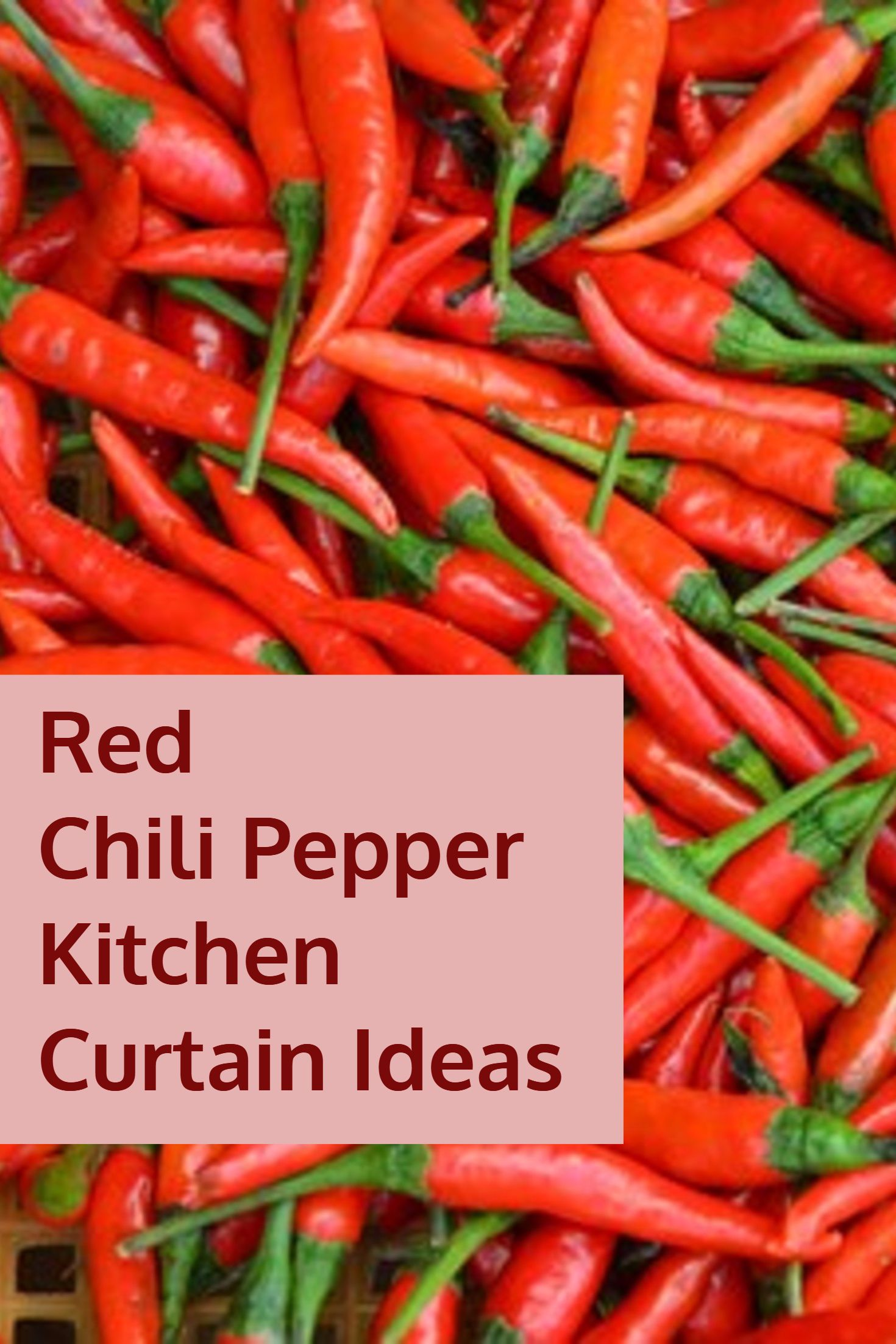 Red Chili Pepper Kitchen Curtain Ideas